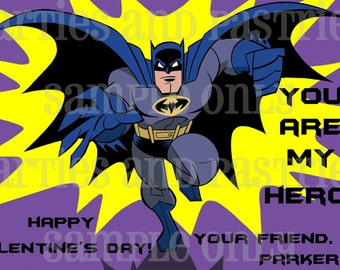 BATMAN Valentine's Day Cards Choose from 3 designs
