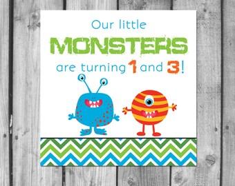 Little Monsters Birthday Invitations