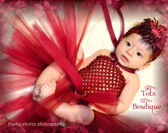 Maroon Tutu Dress- Toddler
