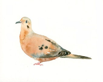 MOURNING DOVE -10x8inch print-Children's Decor-Art for Children-kids wall art-Nursery art -Animal lover