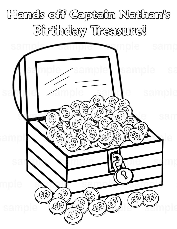 Personalized Printable Pirate Treasure