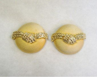 Gold Knotted Shoe Clips - Vintage - New Old Stock