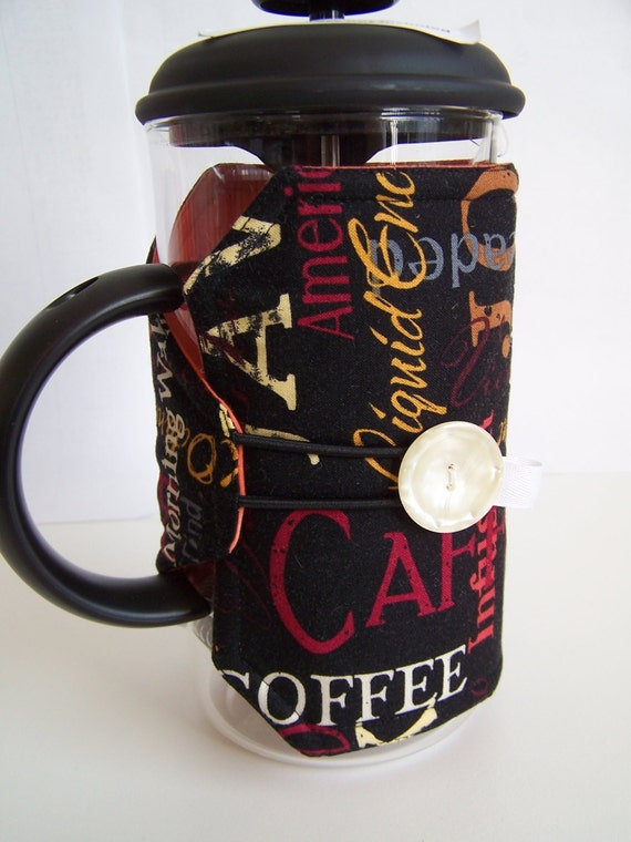 Java, Coffee 8 Cup Bodum French Press Cozy, Press Pot Sleeve, Coffee Pot Cozy, Hot Pot Cover