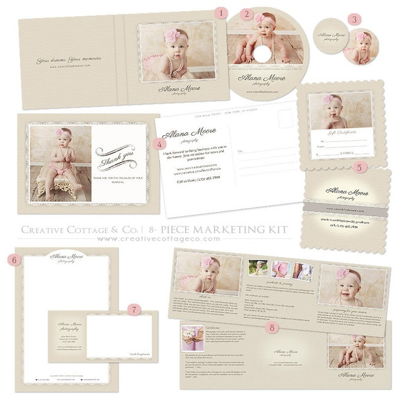 Sweet Cream, Linen and Lace Photography or Boutique Marketing Set.
