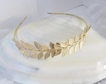 Gorgeous gold leaf gold plated headband