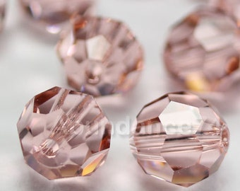 Swarovski Elements Crystal Beads 5000 Round Ball Beads VINTAGE ROSE - Available in 6mm and 8mm