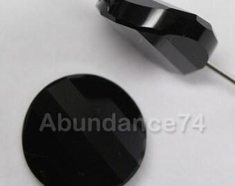 4 pcs Swarovski Crystal 5621 Twist Beads 14mm Crystal Jet ( Black )