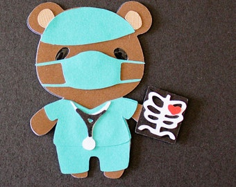 Teddy Bear Die Cut - DOCTOR SURGEON