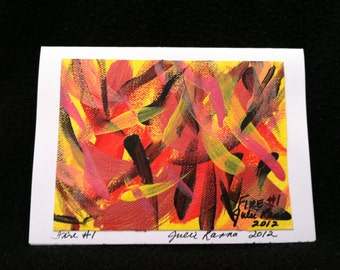 Abstract Painting (FIRE) Note Cards