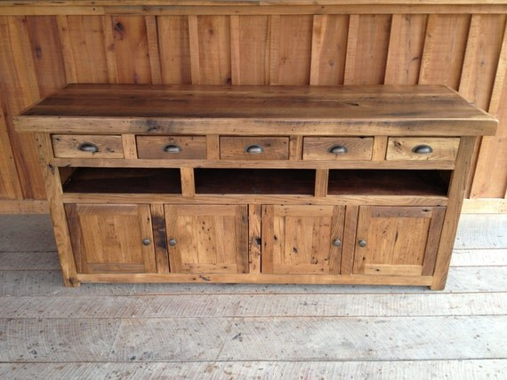 Reclaimed Chestnut Console Ready To Ship