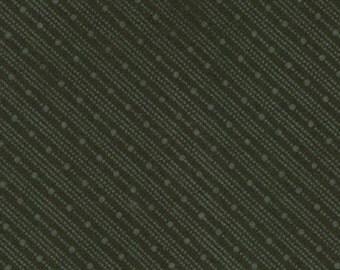 Black Bias Stripe  Muslin Mates Fabric - 9941-14 - Moda Classic- 1 yard