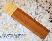 Medium Handmade Wood Bookmarks Bamboo, Red Oak, Cherry, Brazilian Cherry, Ash, More