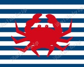 Crab Striped  Placemat