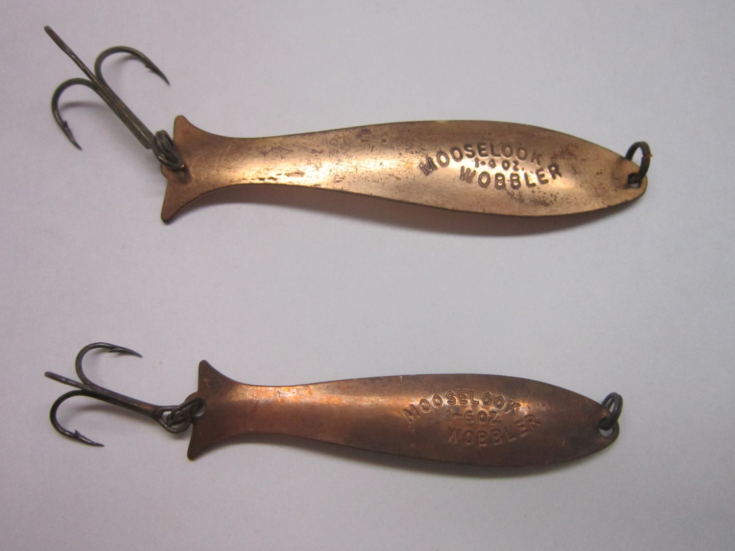 Vintage Copper 2 Mooselook Wobblers Fishing Lures by ...