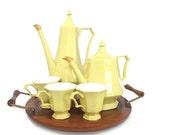 Mid Century Tea Set Teapot Coffee Pot Set Serving