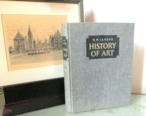 Vintage History of Art Book Coffee Table Harcover Picture Book
