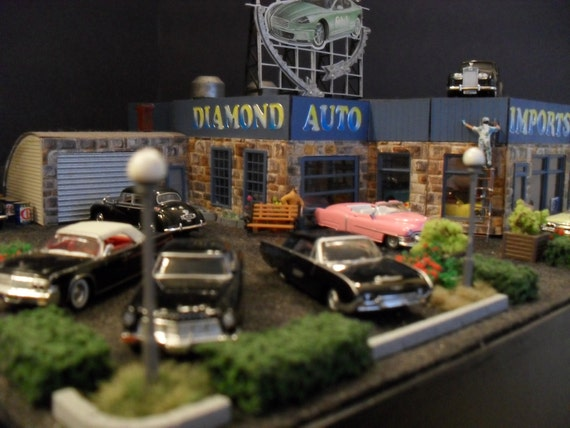 Classic Car Dealer: Classic Car Dealership HO Scale