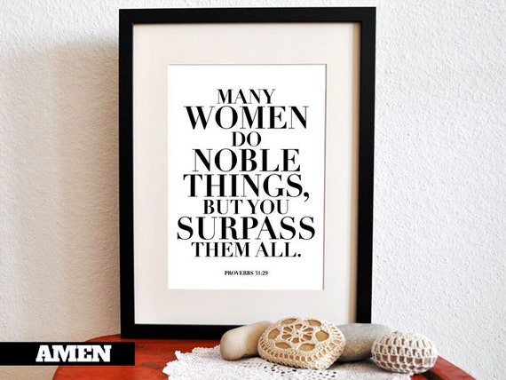 She Surpasses Proverbs 31 29 8x10 In Diy Printable
