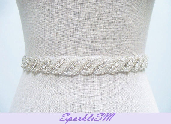 Rhinestone Bridal Belt - Brianna