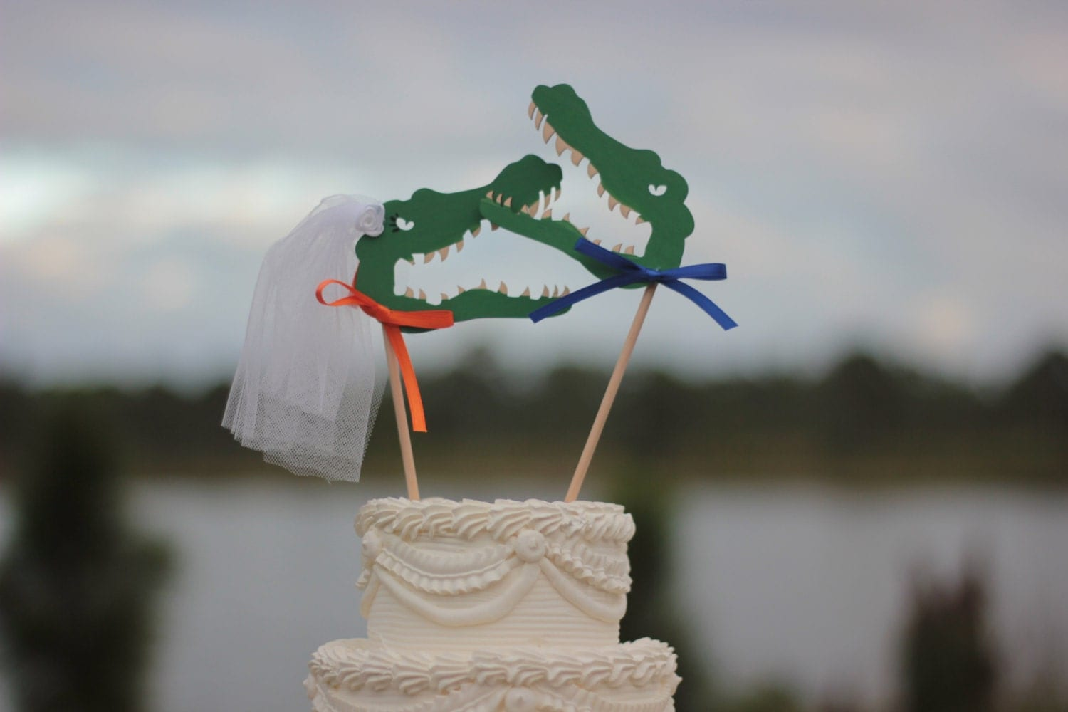 florida gator wedding cake toppers florida gators wedding cake topper alligator wedding cake 14326