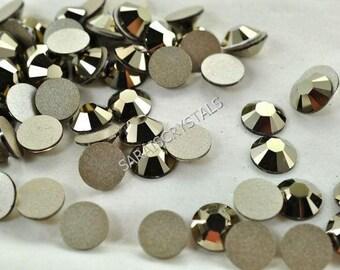 50 pcs Swarovski Flatbacks Crystal Metallic Light Gold 7ss OR 9ss 2028 Xilion