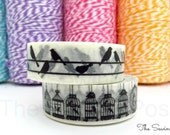 Washi Tape Set: Birds and Cages