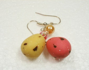 Chocolate Mini Eggs Earrings. Polymer Clay.