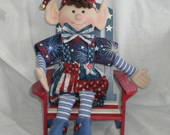 PATRIOTIC ELF Celebrate The 4th.... Holiday Decoration