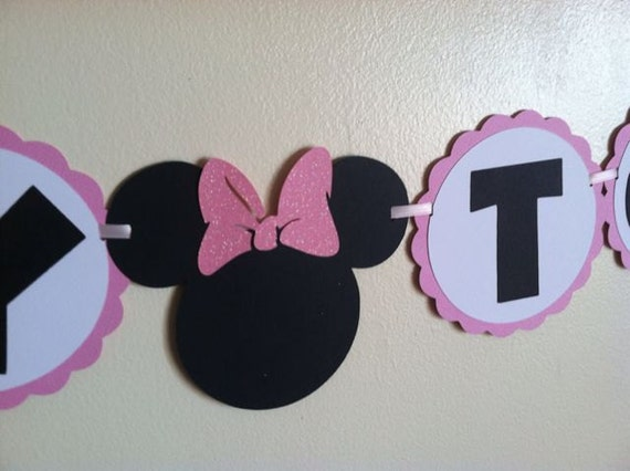 Minnie Mouse Baby shower banner Ready to pop baby by NiuDesigns