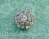 "Rhinestone Buttons ""Elizabeth"" (21mm) RS-034 - 5 piece set"