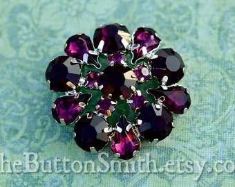 Rhinestone Buttons -Annelise- (24mm) RS-032 - 20 piece set