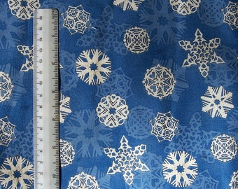Camp Christmas Snowflakes Blue