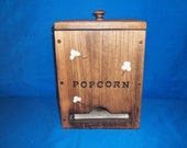 Wooden Microwave Popcorn Dispenser