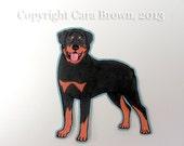 Rottweiler Dog Car Window Sticker Vinyl iPhone Decal waterproof durable indoor/outdoor