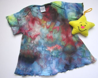 Toddler Tunic Dress, Hand Dyed, 18 months