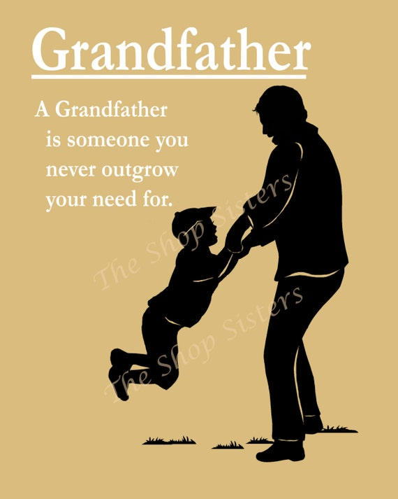 Items Similar To Grandfather Poem Grandpap Pap Zaydee