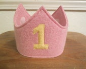 Reserved Listing for Jennifer Hargrave Reversible Waldorf 1st Birthday Crown Applique Adjustable