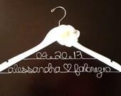 Bride Hanger, Wedding Dress Hanger, Personalized Hanger, Wedding Date Hanger, Engagement Gift