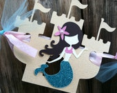 Under The Sea Mermaid Custom Name Banner Party Decoration