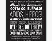 farewell party typography invitation custom printable-- digital file