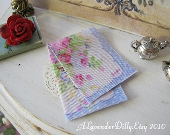 Spring Tea towel for Dollhouse, 1:12 scale