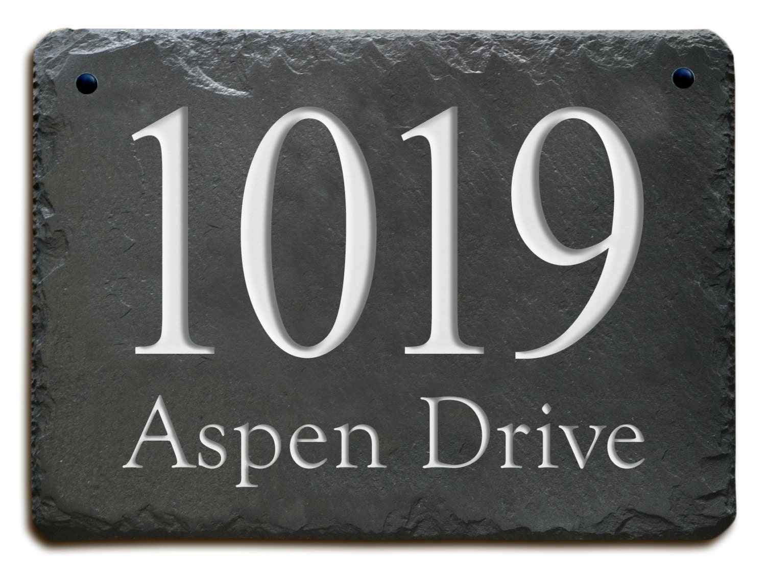 STONE ADDRESS Plaque Marker / Carved House Slate / Circa