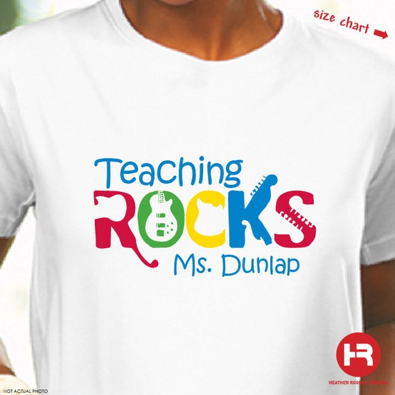 Teacher TShirt - Back to school TShirt - Teaching Rocks Personalized Teacher Shirt - teacher appreciation gift