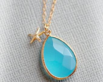 Starfish Jewelry Bridesmaid Gifts Bridal Bridesmaid Necklace Jewelry Tiny Starfish Accessories Bridesmaid Gift Set Limonbijoux
