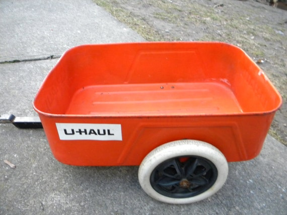 good shape vintage 1960s uhaul uhaul peddle car tractor