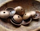 Metal Bead Caps Antique Copper Finish 13mm