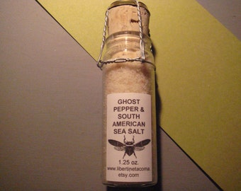 Ghost Pepper & South American Sea Salt Blend in a Variety of Sizes