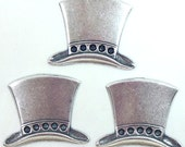 Top Hat Mad Hatter Style Stamping,Silverware Silver Plate, Item04016