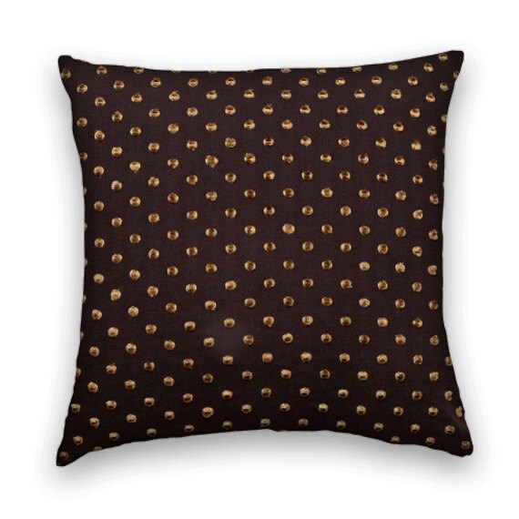 Gold Brown Throw Pillows : Brown Gold Decorative Throw Pillow by CodyandCooperDesigns on Etsy