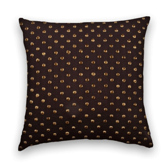 Brown Throw Pillows Etsy : Brown Gold Decorative Throw Pillow by CodyandCooperDesigns on Etsy